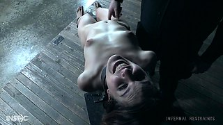 Ass and throat abuse with machines for submissive babe Amarna Miller