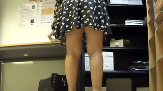 Upskirt of my boss at the workplace