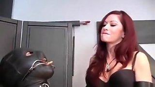 Sexy Mistress & her Smoke Slave