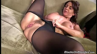 Hairy mature brunette gets destroyed by a black monster