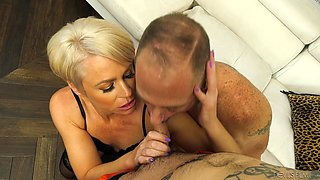 Helena Locke in an awesome threesome with a tattooed bisexual