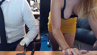CUTE EMMA FUCKS HER BOSS IN THE OFFICE AND GETS HUGE CUMSHOT