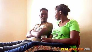 African booty drilled by boyfriend&#39s bbc