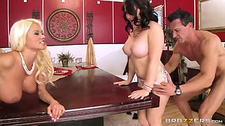 Breath-taking swinger sex video with two gorgeous bitches