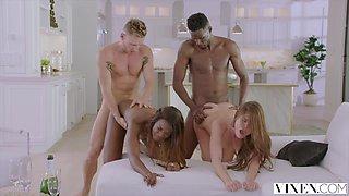 VIXEN Swinger Couple Have Hot Passionate Foursome