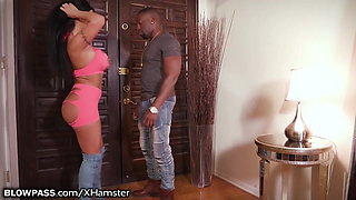 BlowPass BBC Unloads in August Taylor's Hungry MILF Mouth