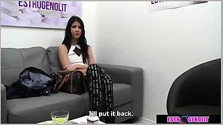 Brunette girl with doctor amazing sex