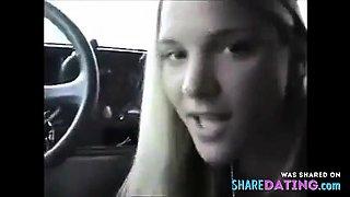 18 YO Teen Amatuer Blowjob Car Head