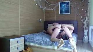 Lustful amateur teen gives great blowjob before riding me on top