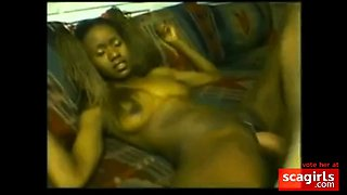 BLEACHED African goddess bred by white cock creampie Ebony