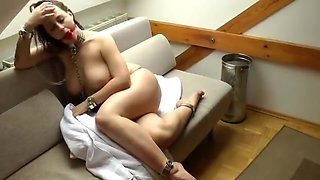 Katha German Slave Girl in Self Bondage And Gagged Neandra
