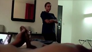 Desi boy masterbation front of lady hotel maid