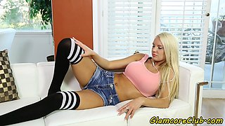 Busty euro model anally fucked in doggystyle
