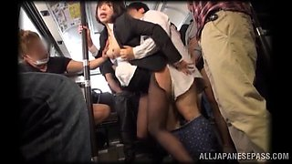 Gang Bang In A Public Bus