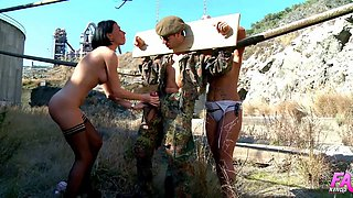 Mademoiselle Justine and Jenny Hard ravish a handsome soldier