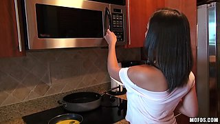 Big Perfect Breasts Babe In My Kitchen