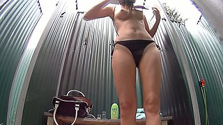 Czech Pool Amazing Teen with Firm Young Tits Shower Voyeur