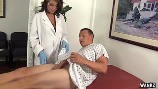 WANKZ- Sexy Nurse Cassidy Helps Man Who Took Viagra