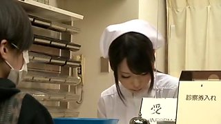 Horny Japanese girl Mimi Asuka, Nanako Mori, Chika Arimura in Hottest Nurse, Fingering JAV movie