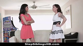 Slutty sisters fight to suck &amp fuck cock for job approval