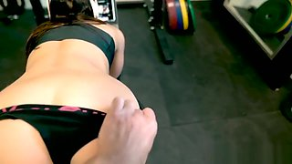 Daddy creampies my pussy at the gym (with anal and ATP) - Alissa Avni