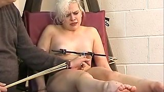 Cute Blonde Slave Chaos Tit Tormented