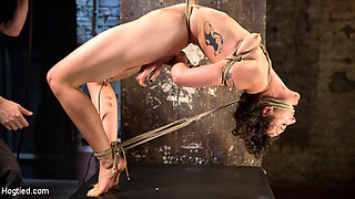 Lilith Luxe & The Pope in First Timer In Extreme Bondage With Brutal Tormented, And Made To Cum - HogTied