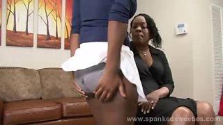 black chicks spanking