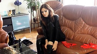 Latex porn models video with true german foot fetish