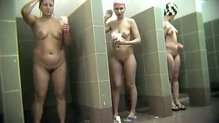 Hidden camera video from women public shower