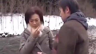 Japanese son forced mom on trip