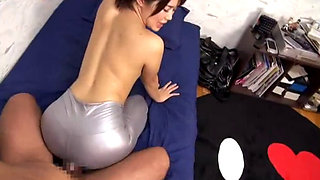 Hot Japanese Teen In Latex Pants Fucking Her BF