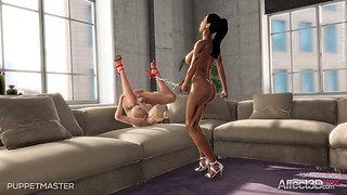 3D Animation Lesbian Futanari Game