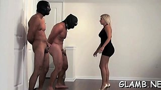 Female domination action with chick humiliating paramour