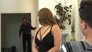 Skylar Snow has a great time shagging a man in front of her lover