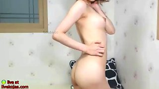 Korean bj tiny model masturbates