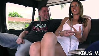 wild sex in a car makes her happy film video 1
