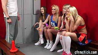 Cfnm cheerleaders gobble