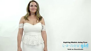 MODEL WALKS IN AUDITION CASTING AND GETS FUCKED