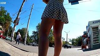 Upskirt big tight ass hiden camera