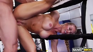 fit babe nicole aniston is fucked by trainer right on the ring