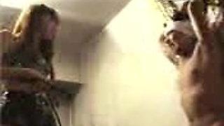 Mistress harshly whips and beats male slave KOLI
