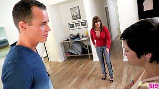 Bratty stepsister Cadey Mercury hooks up with her perverted stepbrother