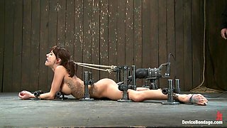 Gia DiMarco in Machine fucked and Double Penetrated to multiple brutal orgasms! - DeviceBondage