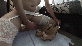 Cross-dressing in high heels