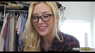 Great Blonde Teen with Glasses