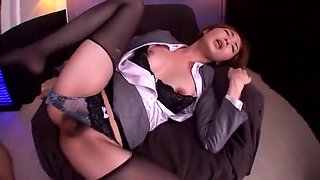 Best Japanese slut Miku Ohashi in Hottest Facial, Stockings/Pansuto JAV movie