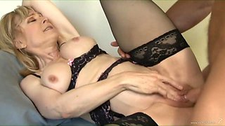 Nina Hartley doesn't miss a chance to fuck her handsome neighbour