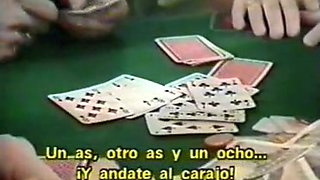 Naughty white vintage girls prefer sucking dicks to playing poker