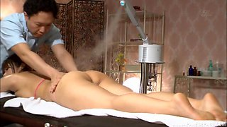 Oily massage and a big dick for Japanese bombshell Mizusawa Riko